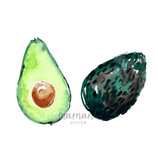artwork of Avocado Halves