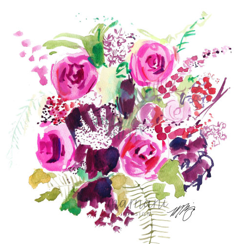 Colorful, Floral, Flowers, Pattern, Whimsical, Pink, Peony, Wildflower