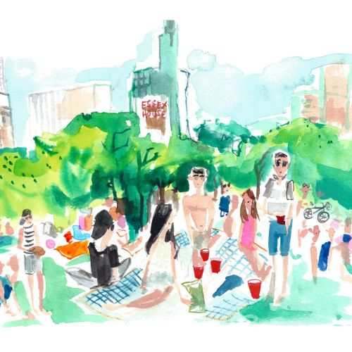 Illustration of New York city's central park
