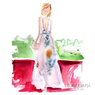 Fashion, Whimsical, Gestural, Figures, Fashion Forward, Runway, Red Carpet, Evening, Gown, Formal