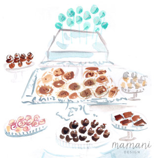 An illustration of sweet desserts