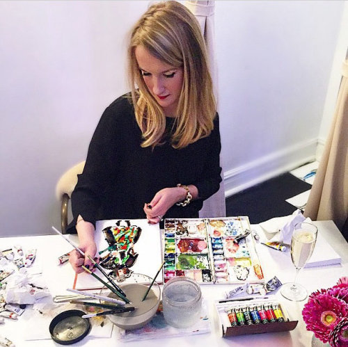 Live illustrating by Martha Naiper for major fashion event