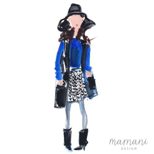 An illustration of fashion lady for a magazine