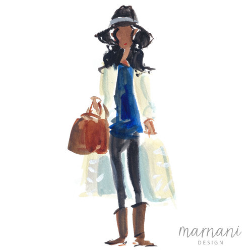 Live Illustration, Editor, Fashion, Whimsical, Quick Sketch, Colorful, Gestural