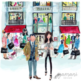 An illustration of Barneys New York flagship