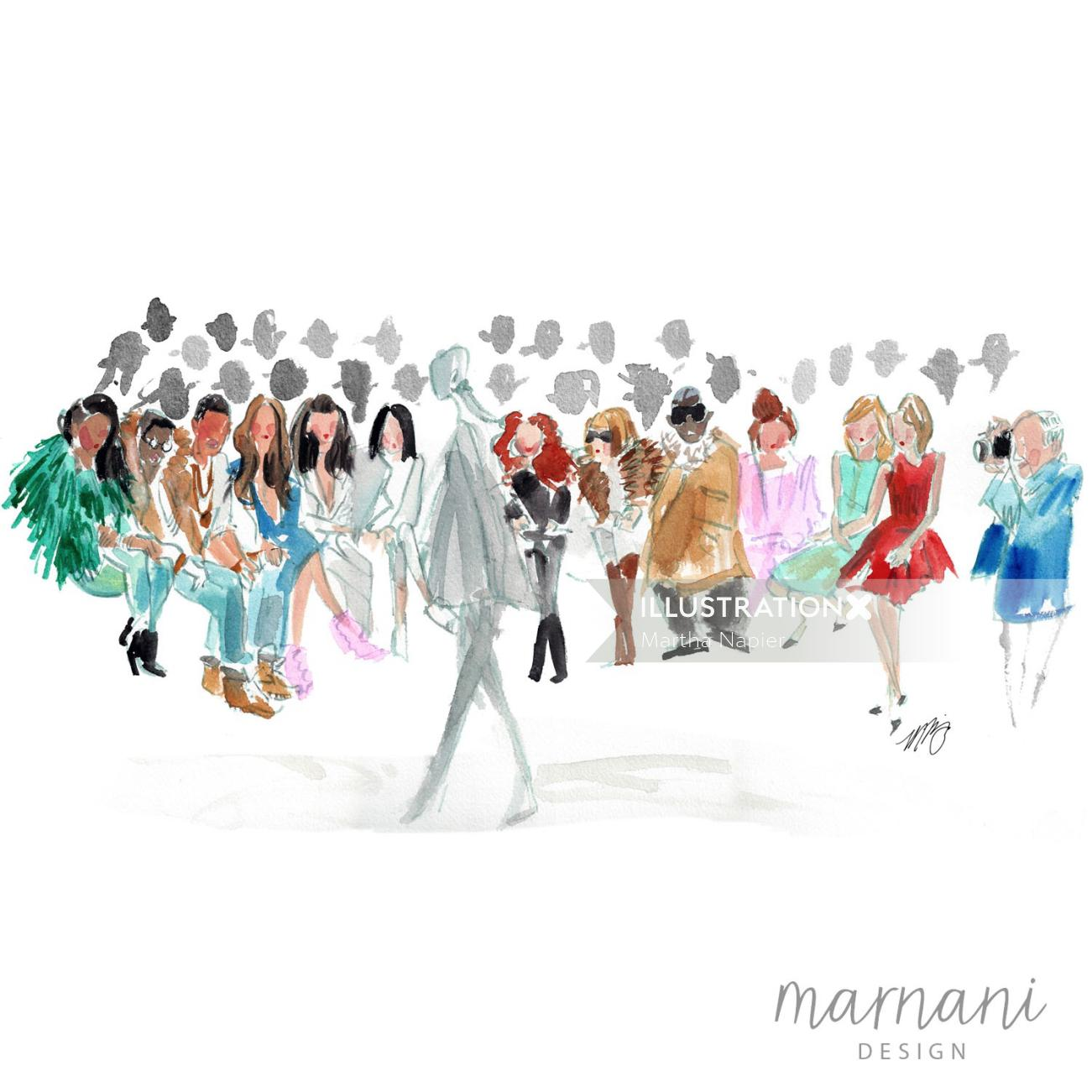 An illustration of fashion girls