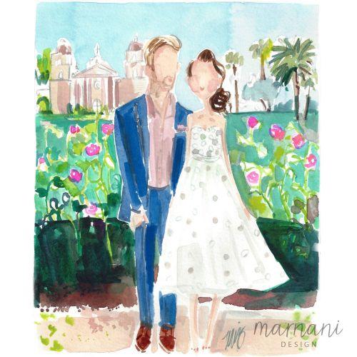Bride and Groom fashion design for wedding