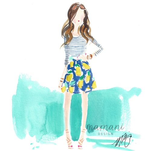 Blogger, Spring, Stripes, Print, Style, Fashion, Aqua