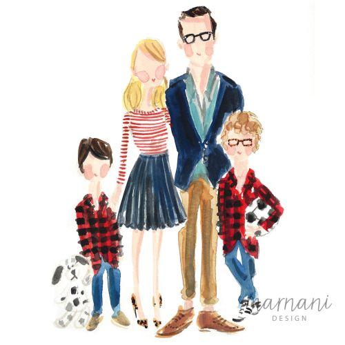 Family illustration by Martha Napier