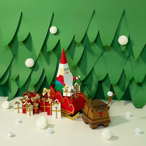 Paper art of Christmas tree