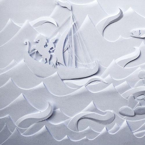 Boat paper illustration