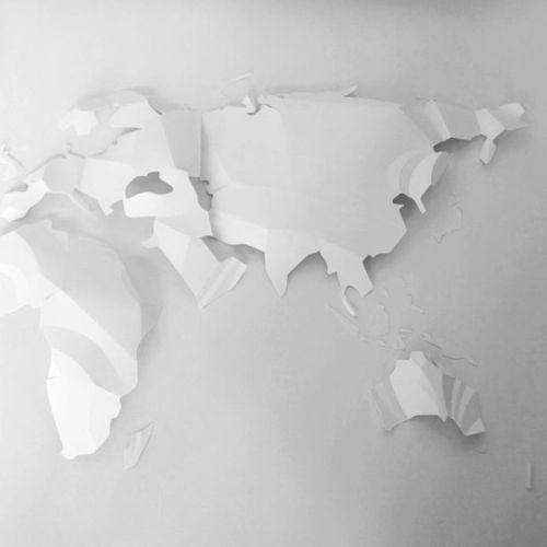 Paper art of world map