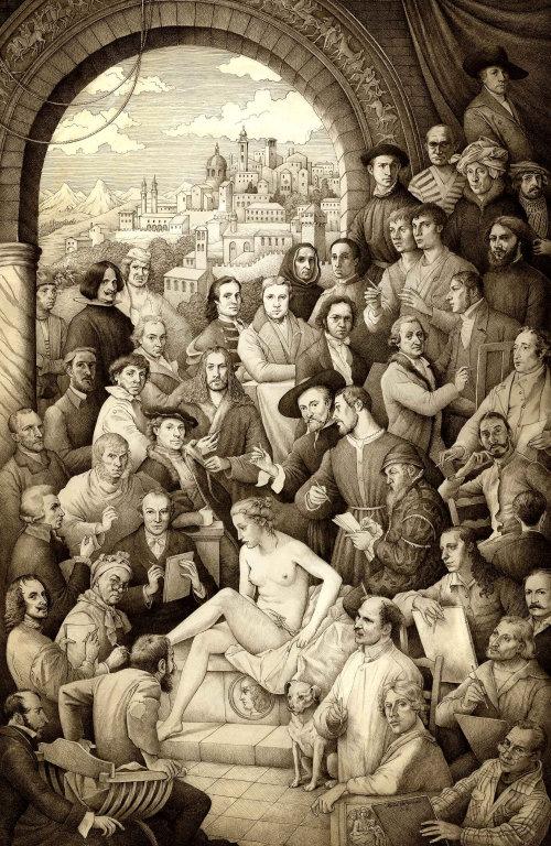 Groupe de personnes assis ensemble