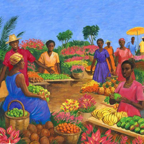 People in fruit market