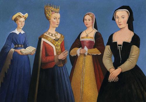 Femmes historiques debout ensemble