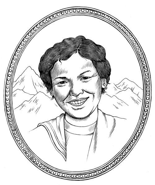 Portrait de femme noir et blanc