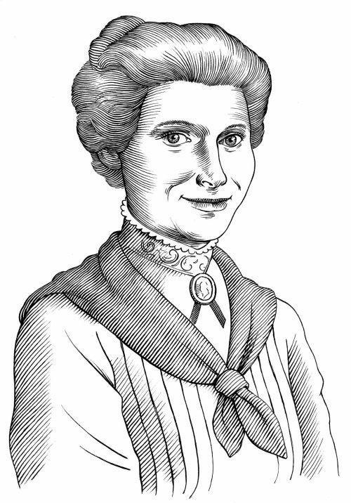Portrait noir et blanc de femme