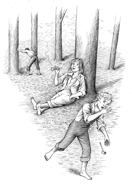 Les gens dans les bois