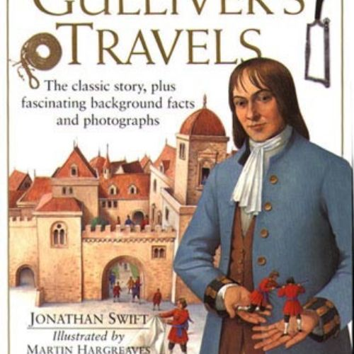 Gulliver's travels cover page illustration