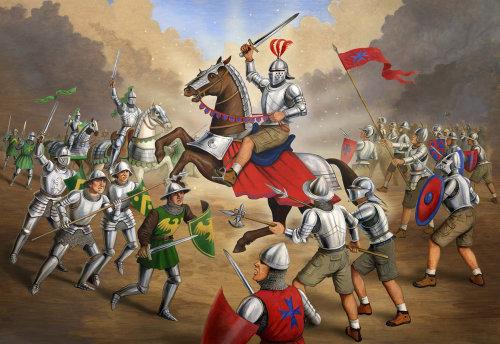 Combat historique en champ de bataille