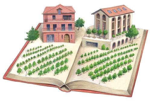 Maison d'architecture avec agriculture