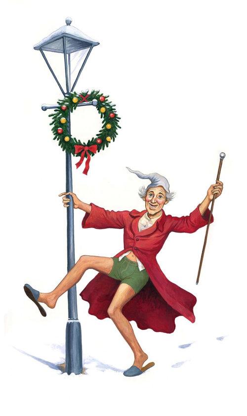 Homme dansant à l'aide de pôle