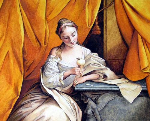 Femme historique avec glace