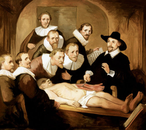 Les gens autour d'un patient