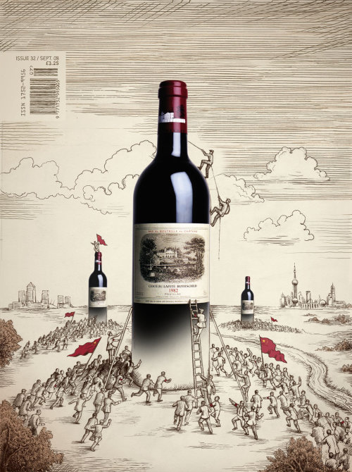 Food & Drink personnes escalade bouteille de vin