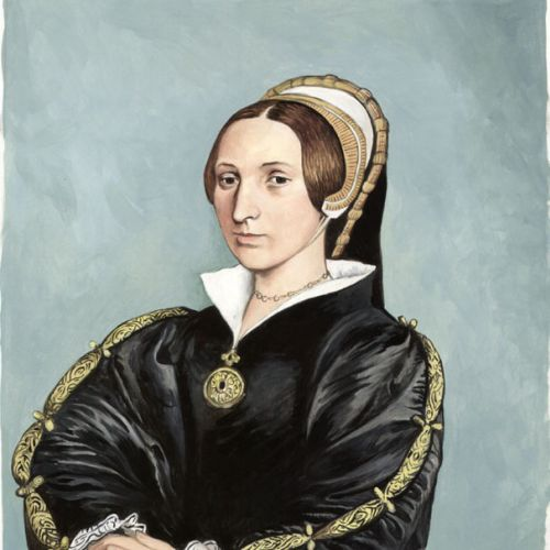 Pastiche portrait art of Katherine Howard