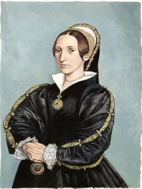 Arte do retrato de Pastiche de Katherine Howard