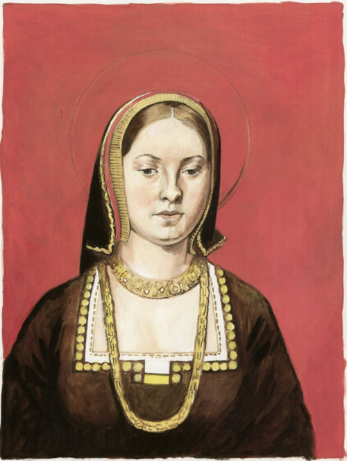 Catherine of Aragon face line drawing