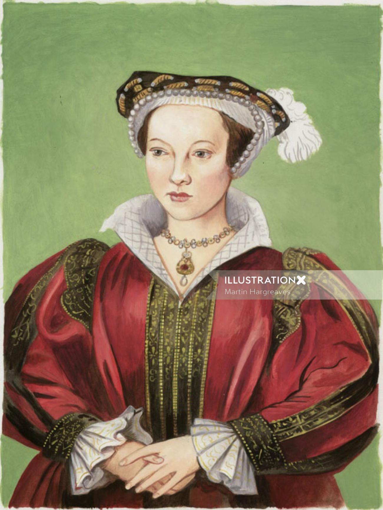 Portrait art of Katherine Parr
