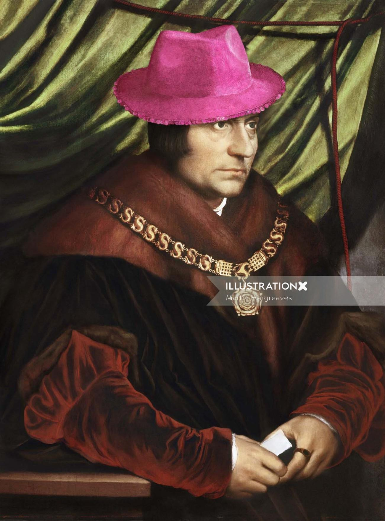 Historical painting of king