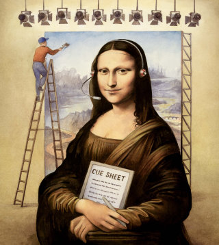 Monalisa illustration by Martin Hargreaves