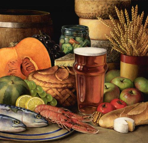 Nourriture et boissons fruits et blé