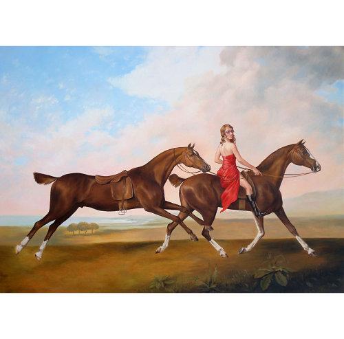 Animaux fille équitation