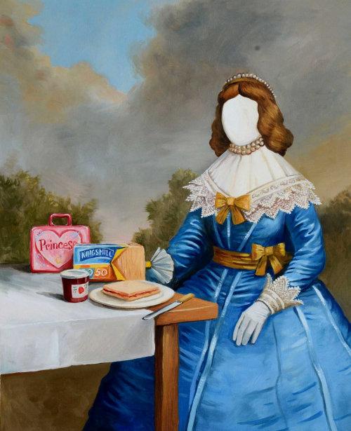 Bread eaten by princess pastiche artwork