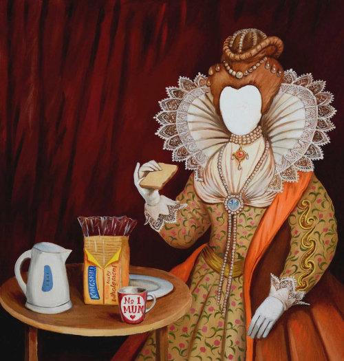 L'art rétro de la reine par Martin Hargreaves