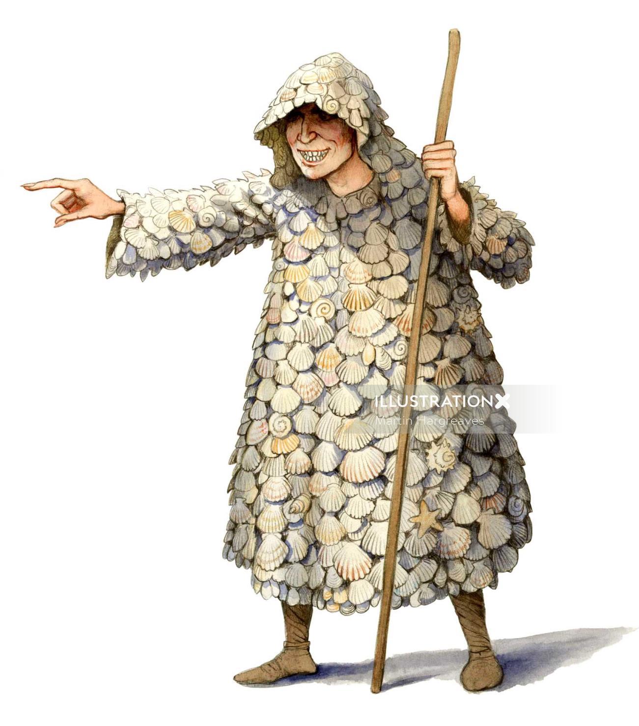 Fashion illustration of Shelly coat