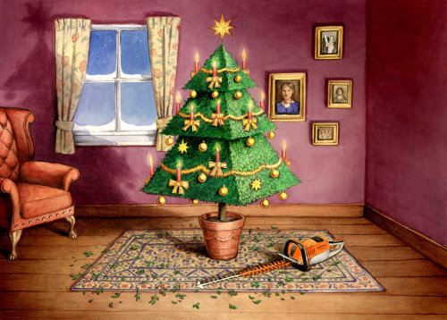 Paper art of Christmas tree