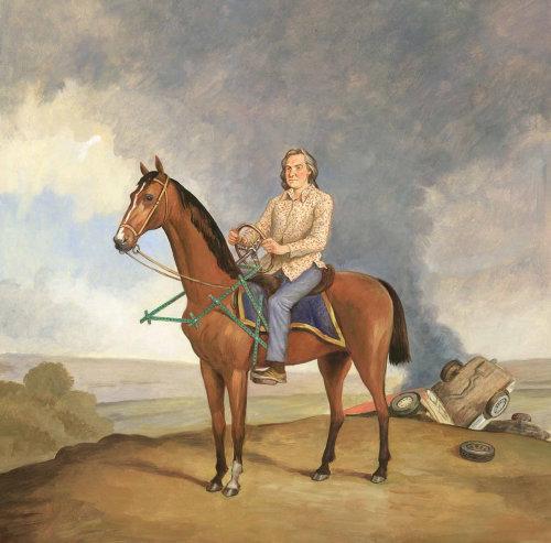 Homme historique à cheval
