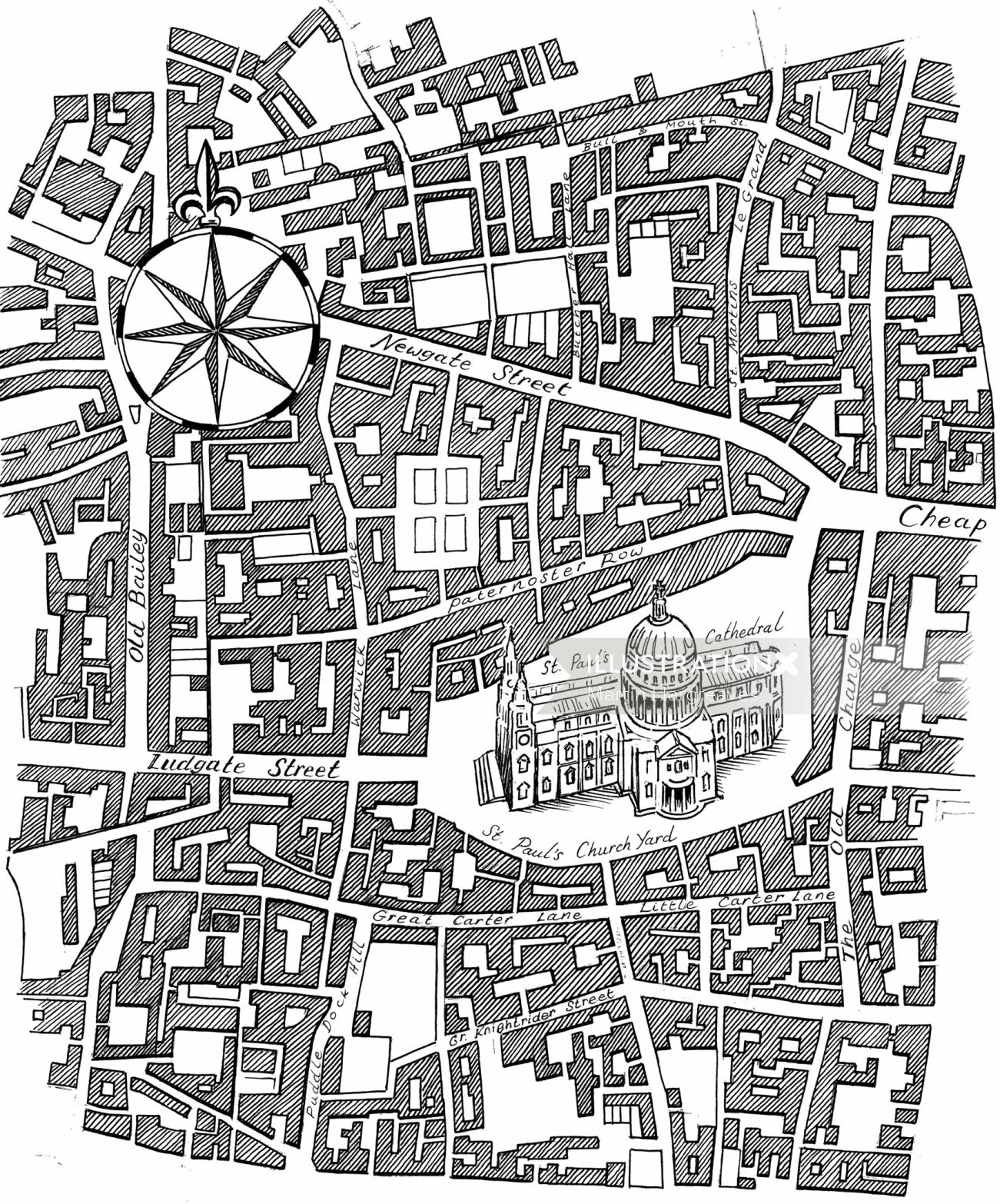 Black & White City map