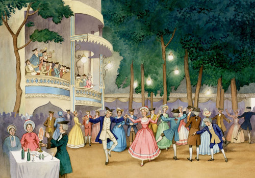 Les gens dansent ensemble
