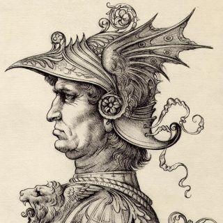 Portrait of Historical costume man