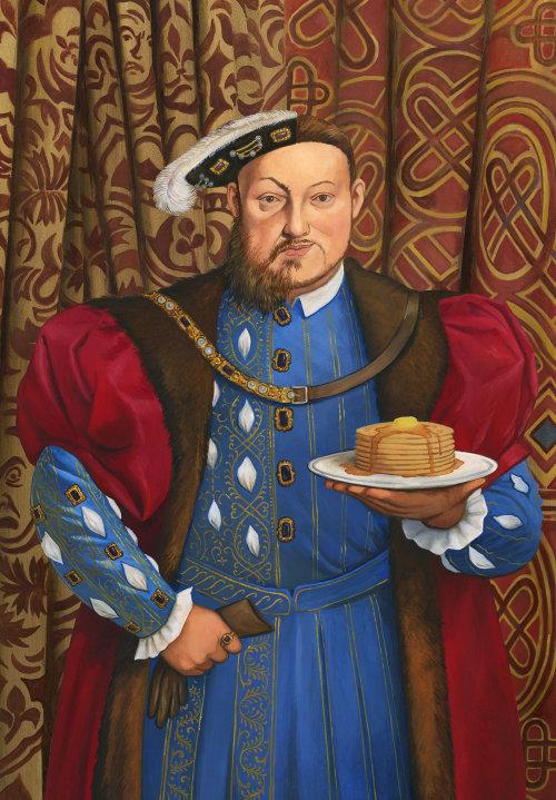 Roi historique avec gâteau