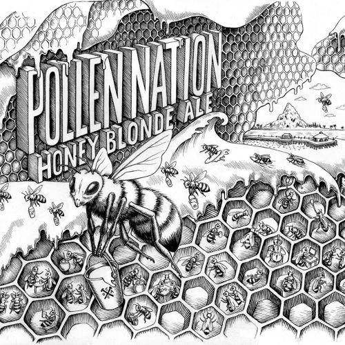 Black & White pollination Honey blonde ale