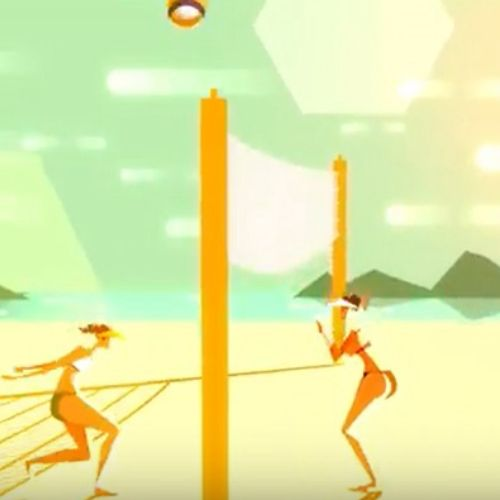 volleyball playing Video for an imaginary sports brand