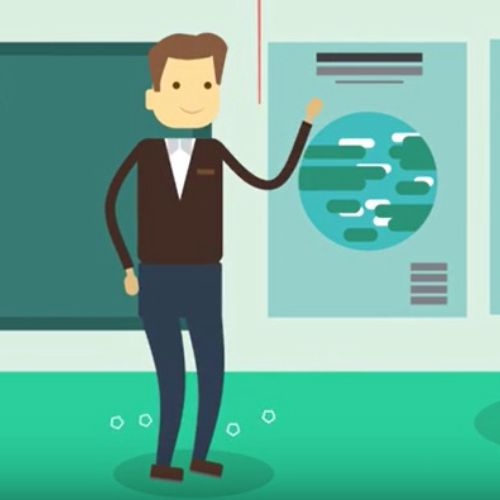 Motion Graphics of learn skills while play