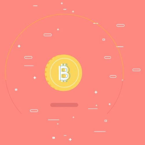 Animated clip of Digital currency bitcoin